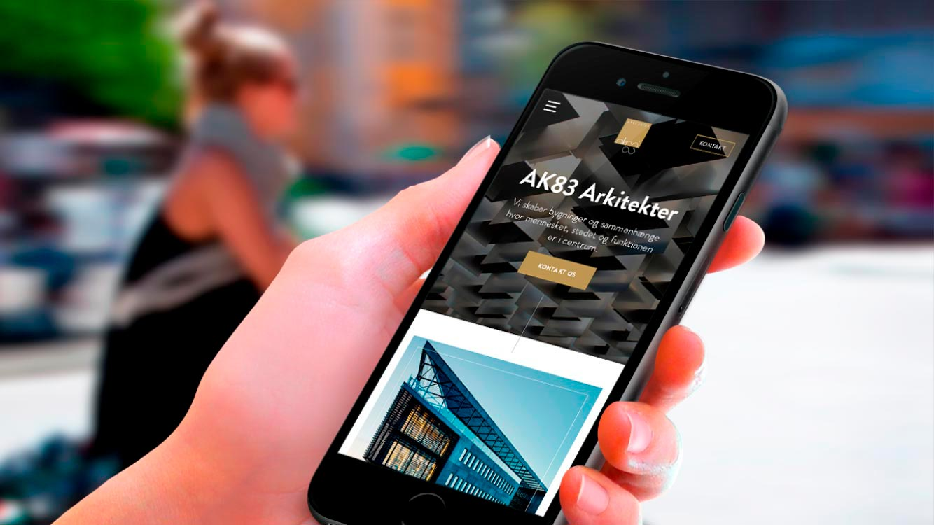 ak83 arkitekter launch new and optimized website
