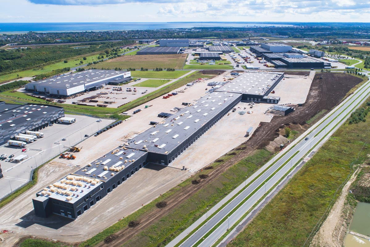 PostNord's new warehouse and package terminal takes shape
