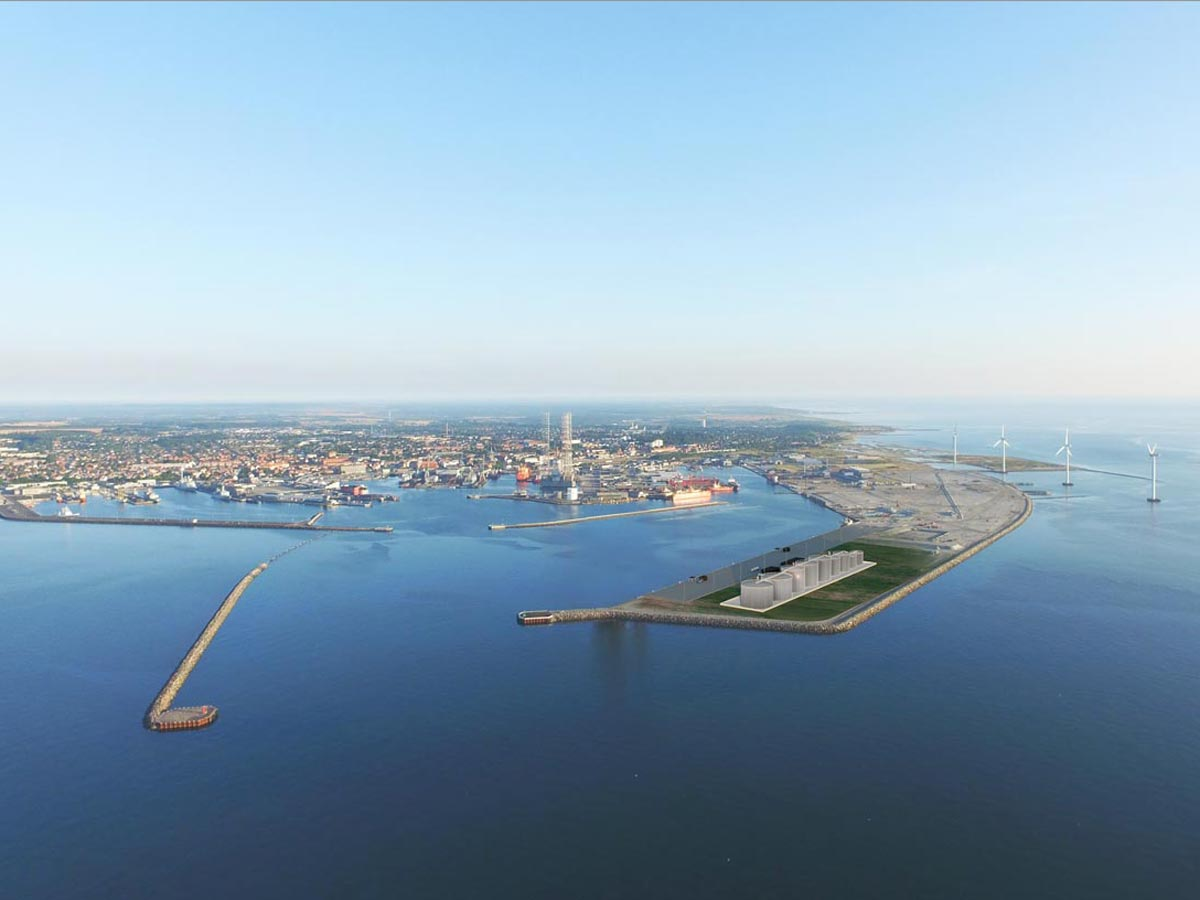 New oil terminal in Frederikshavn harbor