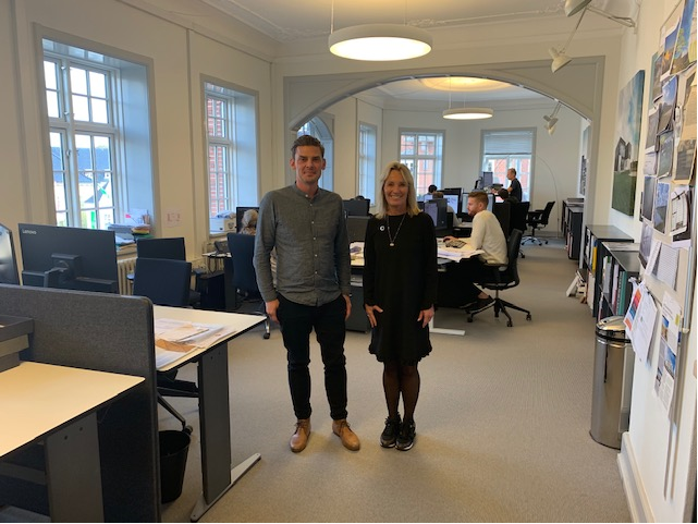 Lene Espersen visiting our office in Aalborg